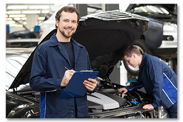 Auto Mechanics Under Car Hood